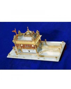 Golden Temple Model Hand Made Gold Plated Acrylic Base