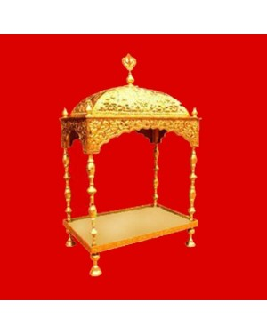 Brass Palki Sahib Deluxe - Medium Size - For Guru Granth Sahib Ji