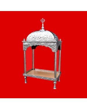 Steel Palki Sahib Deluxe - Medium Size - For Guru Granth Sahib Ji