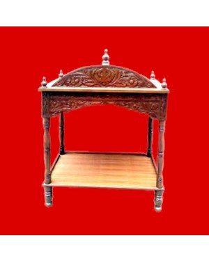 Wood Carving Palki Sahib - Large Size - For Guru Granth Sahib Ji