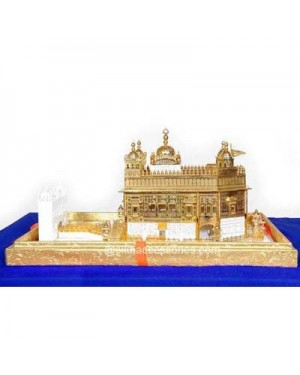 Gold Plated Golden Temple Model Hand Made