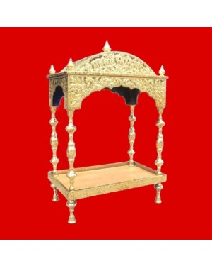 Brass Palki Sahib Circular Roof - Large Size - For Guru Granth Sahib Ji