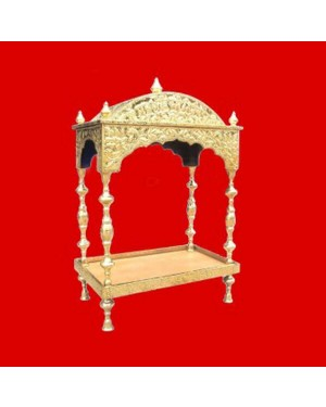 Brass Palki Sahib Circular Roof - Medium Size - For Guru Granth Sahib Ji