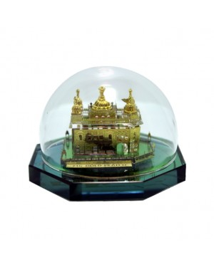 Golden Temple with Crystal Base