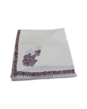 Pure Woolen Pashmina Shawl with Border Embroidery Work